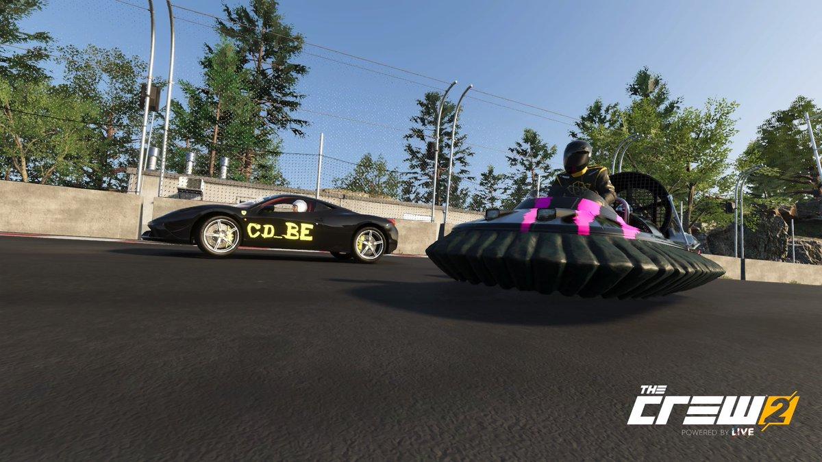 Hooveren op een racetrack...