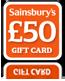 Sainsburys £50 Gift Card