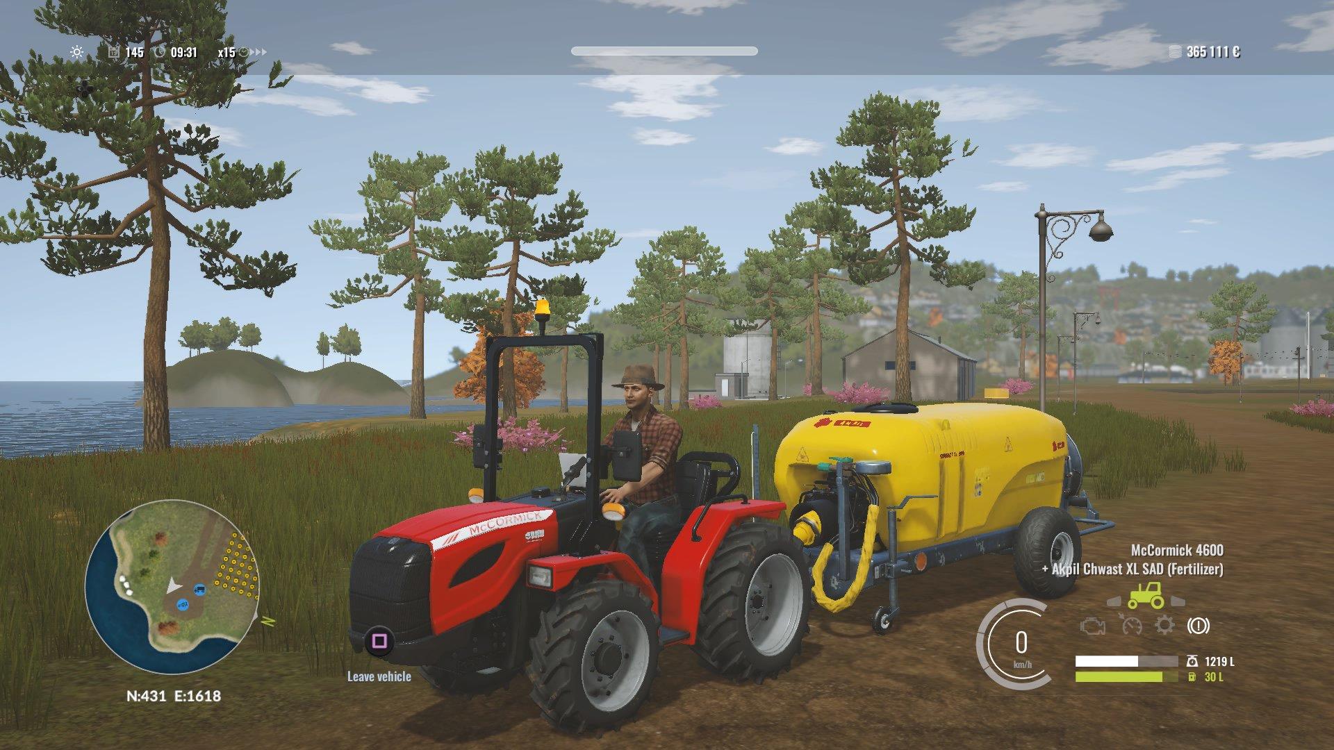 De boomgaard tractor