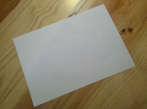 A4 sheet flat
