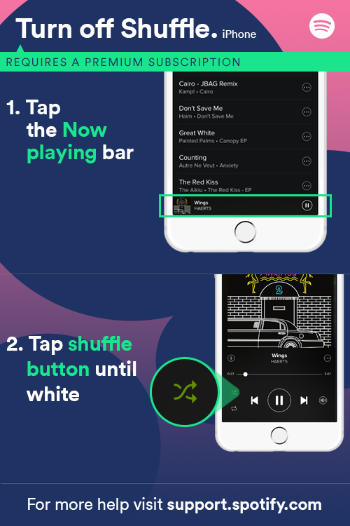 how to get spotify premium free iphone solved can t turn shuffle play the spotify community 7464