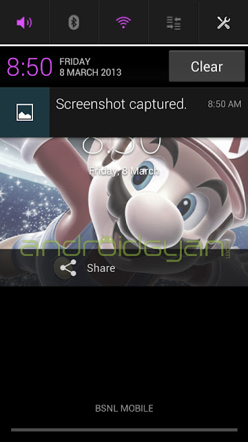 new notification bar of xperia j android 4.1.2 firmware